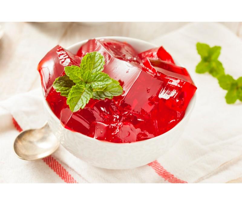 Gelatina de fresa y frambuesa sin azúcar (1 caja de 4,8 kg)