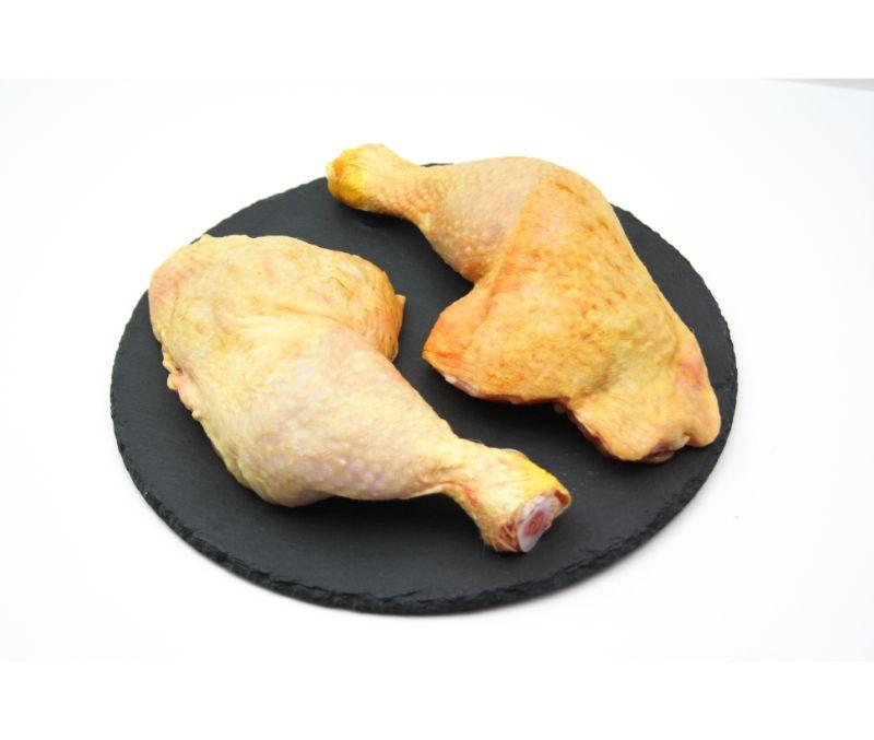 Muslo de pollo amarillo interfoliado (1 caja de 4 kg)