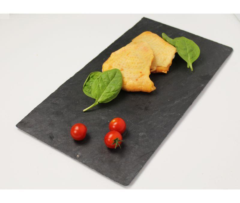 Contramuslo de pollo amarillo interfoliado (1 caja de 4 kg)