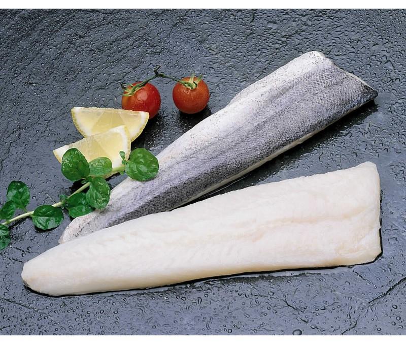 Filete de merluza con piel 115 - 175 g/pieza (1 estuche de 7 kg)