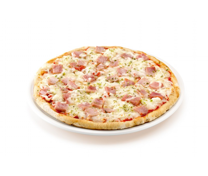 Pizza de jamón y queso (1 caja de 2,4 kg)