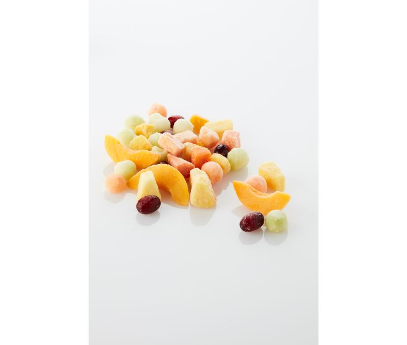 Macedonia de frutas con jugo (1 caja de 10 kg)