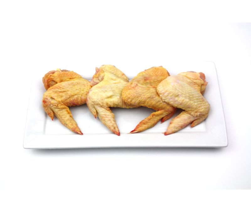 Ala de pollo amarilla interfoliada (1 caja de 4 kg)