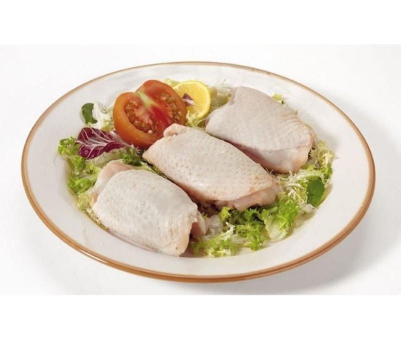 Contramuslo de pollo interfoliado 140 - 180 g/pieza (1 caja de 4 kg)