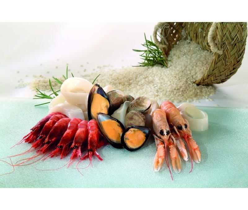 Preparado de paella de marisco económico (1 caja de 6 kg)