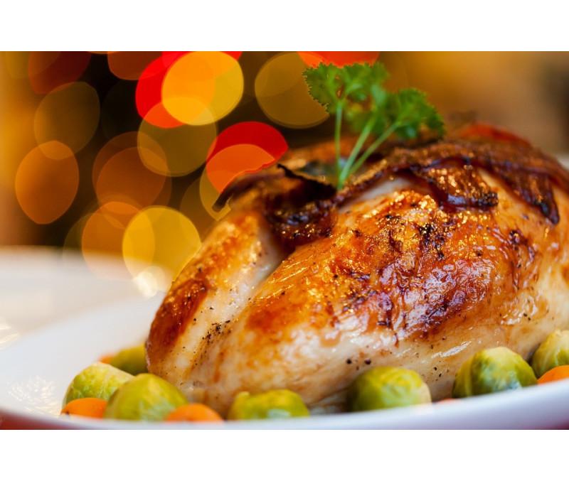Medio pollo BBQ 450 - 550 g/pieza (4 piezas en una caja)