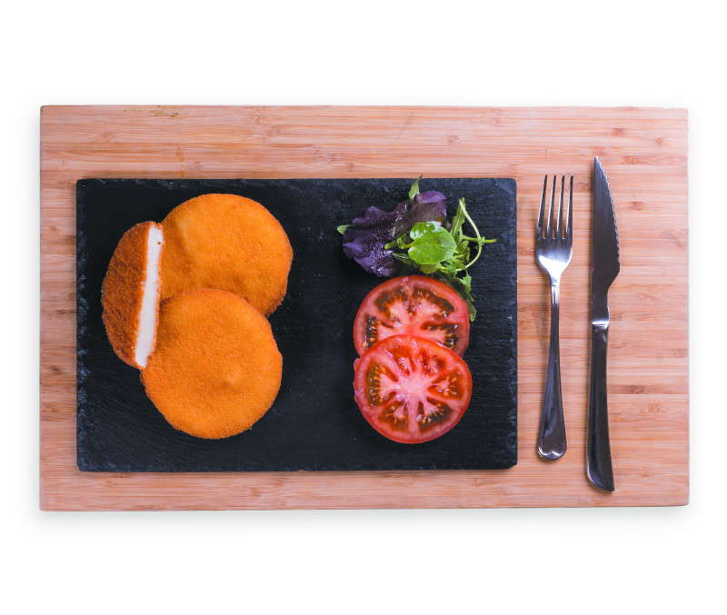 Hamburguesa de potón empanada 110g (1 caja de 6 kg)